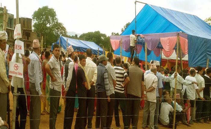 तुलसीपुरय् बम मुल, मतदान जुयातुं च्वन